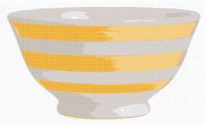 A bowl in yellow to brighten up the kitchen