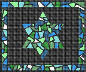 pepita Tallit Glass Borders Star Needlepoint Kit