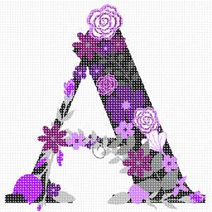 "The Letter A in hues of purple flowers. About 100 languages use the same alphabet like in English which makes it one of the most widely used alphabets in the world. While some languages have a few more and others a few less, they all share the 23 core letters originally found in the Roman alphabet. The most commonly used letter is the letter E. The letter J was the most recent letter to be added to the alphabet, appearing in print as a distinct letter for the first time in 1633. A sentence which contains all 26 letters of the English alphabet is called a pangram. A famous pangram is: ""The quick brown fox jumps over the lazy dog."" but there are even shorter ones such as: ""Pack my box with five dozen liquor jugs."" Every letter of the alphabet has a wild, or at least interesting, story, often going back thousands of years. You can look it up on Wikipedia."