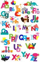 The English Alphabet with pictures too