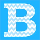 Baby blue chevron in letter B for Baby