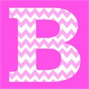 Baby pink chevron in letter B for Baby