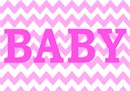 Baby girl nursery decor in chevron pattern