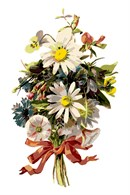 Bundle Flowers Tied In Ribbon (Large)