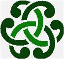 Intriguing Celtic design in green.