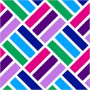 Bold color tiles on a diagonal