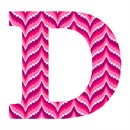 Letter D Bargello Fruit Punch