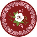 Doily Floral Red