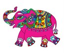 A colorful elephant that's fun to stitch