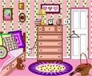 A colorful bedroom in girl colors.