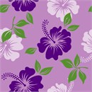 Floral hibiscus pattern in puprles. Perfect to finish as a needlepoint pillow.