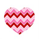 "Perfect for any level stitcher.  This zig zag heart in shades of pink is ""lovely"""