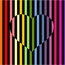 "A heart in color with a coordinating backdrop. No one knows why the heart is associated with love.  A human heart weighs between 7 and 15 ounces. Our heart beats around 100,000 times a day.  Laughing is good for your heart. A ""broken heart"" can feel like a heart attack."