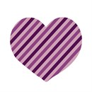 Heart Striped Purple