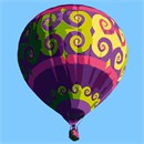 Hot Air Balloon Flourish