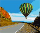 Hot Air Balloon Over Highway
