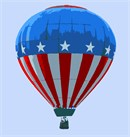 Hot Air Balloon Patriotic (Large)