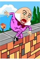 Humpty Dumpty, just before his Great Fall.
