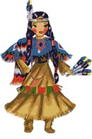 Native American doll all dressed up