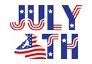 Happy Independence Day in needlepoint
