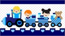 Kids Heart Train Blue