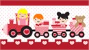 Kids Heart Train Pink