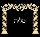 Pillars and flowery arch above Hebrew text. Pillars are quite popular in Judaica. You stitch the front. After it is completely stitched, it is sent to a professional finisher who adds a lining, back, and matching zipper.