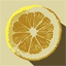 A slice of tangy lemon, ready to be notched and perched onto a tall glass of lemonade.