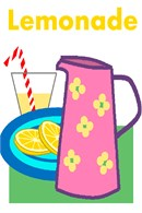 A freshly poured glass of a favorite summer drink: lemonade!