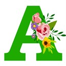 Alphabet with a stunning array of flowers