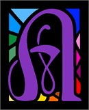 Letter A Stained Glass