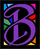 Letter B Stained Glass