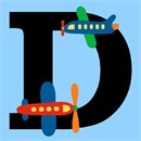 Letter D Airplane
