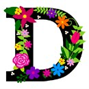 Letter D Primary Floral