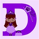 Girls are into princesses. This princess wears a beautiful pink crown. Her magic wand has magic dust stars fluttering about. Her purse is ready for a day out or for a night of dancing at the ball. Stitch an initial alphabet princess for the special princess in your life.