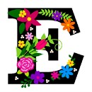 Letter E Primary Floral