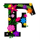 Letter F Primary Floral