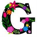 Letter G Primary Floral