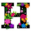Letter H Primary Floral