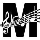 Letter M Music Notes