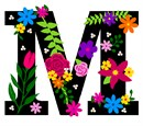 Letter M Primary Floral
