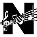 Letter N Music Notes
