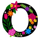 Letter O Primary Floral