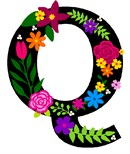 Letter Q Primary Floral
