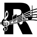 Letter R Music Notes
