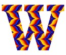 Letter W Bargello Sunset