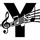Letter Y Music Notes