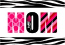 Celebrate Mom in lipstick and zebra themes. A perfect needlepoint for Mother's Day or Mom's birthday.