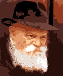 The Rebbe of the Lubavitch Hasidic sect (1902-1994).