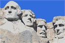 Majestic figures of George Washington, Thomas Jefferson, Theodore Roosevelt and Abraham Lincoln, surrounded by the beauty of the Black Hills of South Dakota. Mount Rushmore brings visitors face to face with the rich heritage we all share.